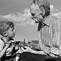 Grandfather And Boy With Model Plane by H. Armstrong Roberts/ClassicStock