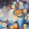 Grandmas Blue Pitcher by JoAnne Corpany