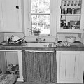 Grandma's Kitchen B W by D Hackett