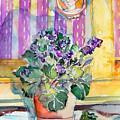 Grandmas' Violets by Mindy Newman