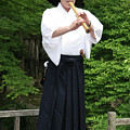 Grandmaster Playing Shakuhachi by Masami Iida