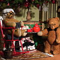 Grandpa And Grandma Teddy Bears' Christmas Eve by Andrea Varga