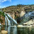 Granite Mountain Waterfall Panorama by Weston Westmoreland