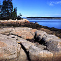 Granite Shoreline Deer Isle Maine by Thomas R Fletcher