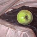 Granny Apple On Velvet And Satin - Sold by Jeannette Ulrich