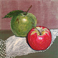 Granny Smith With Pink Lady by Irena Grant-Koch