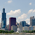 Grant Park And Chicago Skyline by Alan Toepfer