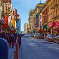 Grant Street In Chinatown by Bonnie Follett