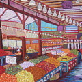 Granville Island Market Bc by Rae  Smith