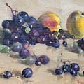 Grape And Peach by Ylli Haruni