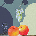 Grapes And Apples by Munir Alawi