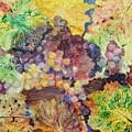 Grapes And Leaves II by Karen Fleschler