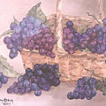 Grapes In Basket by Faye Tracy