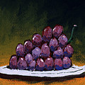Grapes On A White Plate by Gary Henderson