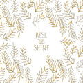 Graphic Art Rise And Shine - Gold And Marble by Melanie Viola