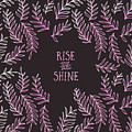 Graphic Art Rise And Shine - Pink by Melanie Viola