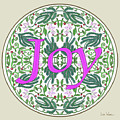 Graphic Designs Button Joy by Lise Winne