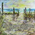 Grassy Beach Post Morning 2 Jeremiah 33 by Janis Lee Colon