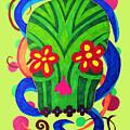 Grassy Skull Transparent by Wendy Rickwalt