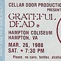 Grateful Dead Ticket - Hampton Coliseum by Susan Carella