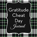 Gratitude Cheat Day Journal Plaid- Art By Linda Woods by Linda Woods