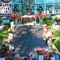 Grave Site At Graceland The Home Of Elvis Presley, Memphis, Tennessee by Timothy Wildey