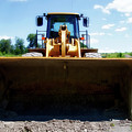 Gravel Pit Cat 972g Wheel Loader 01 by Thomas Woolworth
