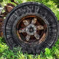 Gravel Pit Goodyear Truck Tire by Thomas Woolworth