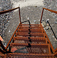 Gravel Pit Grinder Rusty Staircase by Thomas Woolworth
