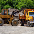 Gravel Pit Loader And Dump Truck 01 by Thomas Woolworth