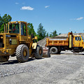 Gravel Pit Loader And Dump Truck 03 by Thomas Woolworth
