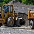 Gravel Pit Loader And Dump Truck 04 by Thomas Woolworth