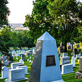 Graves At Sunrise Arlington Cemetery by William Rogers