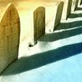 Gravestones In Winter by Dominic Piperata