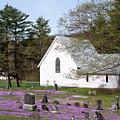 Graveyard Phlox Country Church by John Stephens