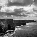 Gray Day At Ireland's Cliffs Of Moher by James Truett