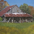 Gray Farm Building by Peter Muzyka