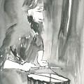 Grayscale Study Of Matthew Smith by Brian Meyer