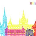 Graz Skyline Pop by Pablo Romero