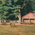 Grazing Sheep by Robert Tutsky