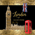 Great Cities London - Big Ben British Phone Booth by Audrey Jeanne Roberts