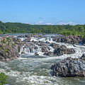Great Falls Of The Potomac River Ds0089 by Gerry Gantt