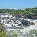 Great Falls Of The Potomac River Ds0096 by Gerry Gantt