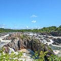 Great Falls Of The Potomac River South Falls And Main Falls Ds0099 by Gerry Gantt