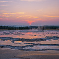 Great Fountain Geyser Sunset Reflections by Michael Ver Sprill