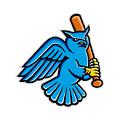 Great Horned Owl Baseball Mascot by Aloysius Patrimonio