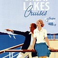 Great Lakes Cruises - Canadian Pacific - Retro Travel Poster - Vintage Poster by Studio Grafiikka