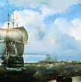 Great Roads At Kronstadt In 1836 715 H93 Ivan Konstantinovich Aivazovsky by Eloisa Mannion