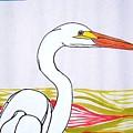 Great White Egret by Michael C Crane