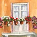 Grecian Balcony by Marsha Elliott